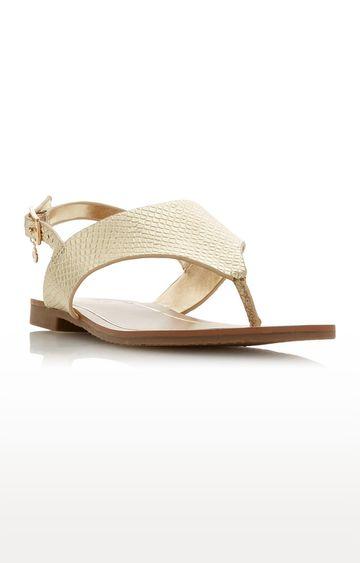 Dune London   Gold Sandals