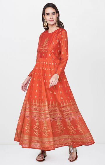 Global Desi | Red Printed Kurta