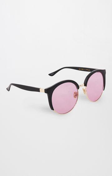 Global Desi | Black Round Sunglasses