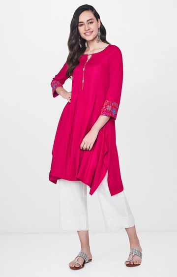 Global Desi | Pink Solid Tunic