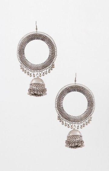Global Desi   Silver Dangle and Drop Earrings