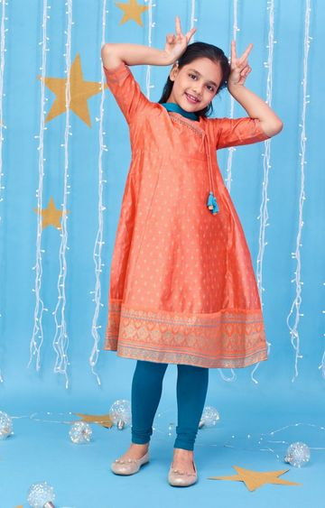 Global Desi | Coral Printed Kurta Set