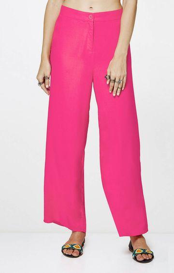 Global Desi | Hot Pink Flared Trousers