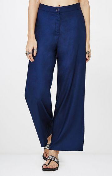 Global Desi | Indigo Flared Trousers