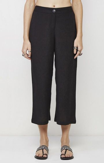 Global Desi | Black Cropped Trousers