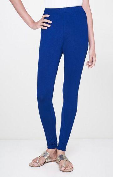 Global Desi | Ink Blue Solid Leggings