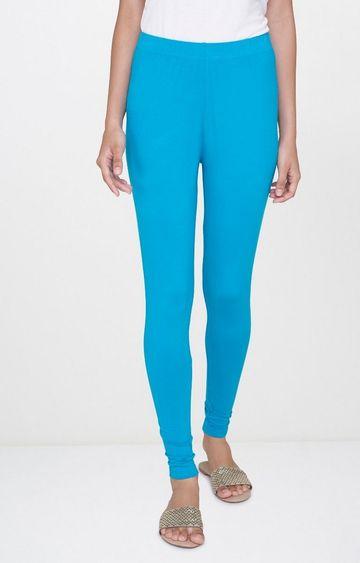 Global Desi | Blue Solid Leggings