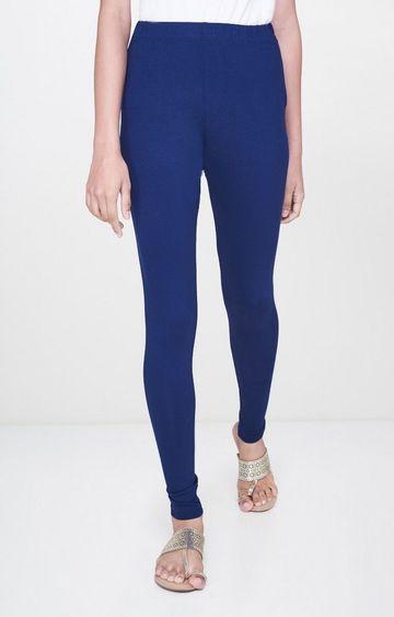 Global Desi   Ink Blue Solid Leggings