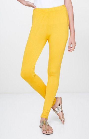 Global Desi | Yellow Solid Leggings