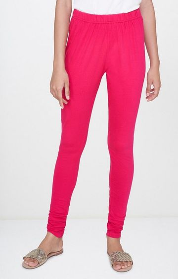 Global Desi | Pink Solid Leggings
