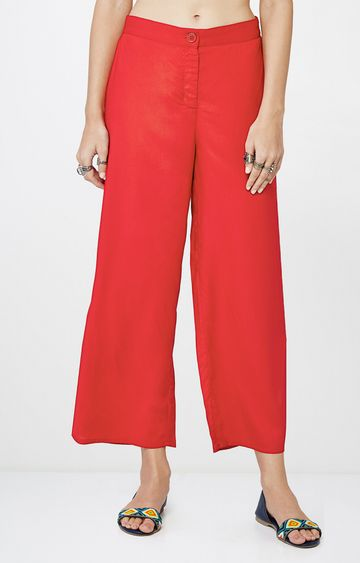 Global Desi | Red Cropped Trousers