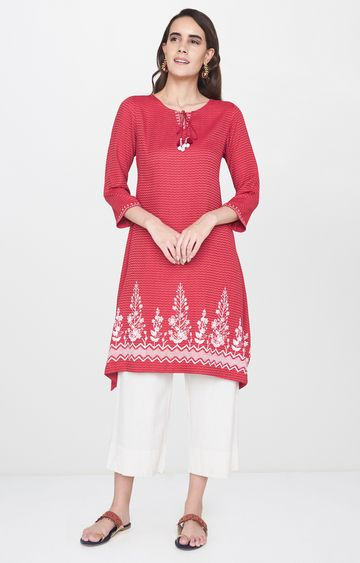 Global Desi | Red Printed Tunic