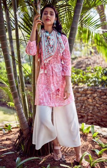 Global Desi | White Solid Palazzos