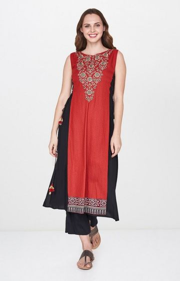 Global Desi | Maroon Printed Kurta