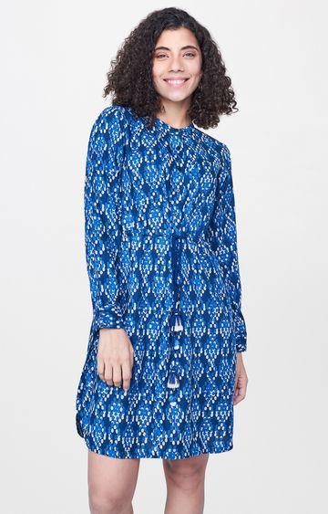Global Desi | Indigo Printed Tunic
