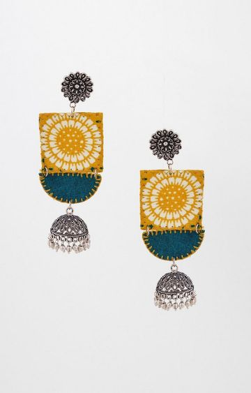 Global Desi | Yellow Dangle and Drop Earrings