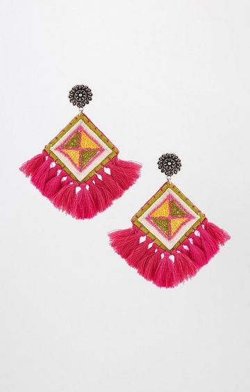 Global Desi | Pink Dangle and Drop Earrings