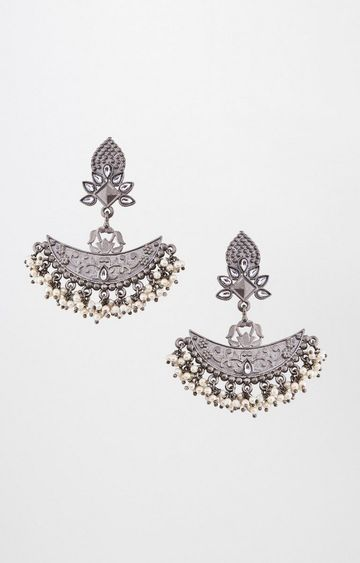 Global Desi | Silver Dangle and Drop Earrings