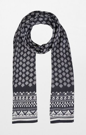 Global Desi | Black Printed Scarf