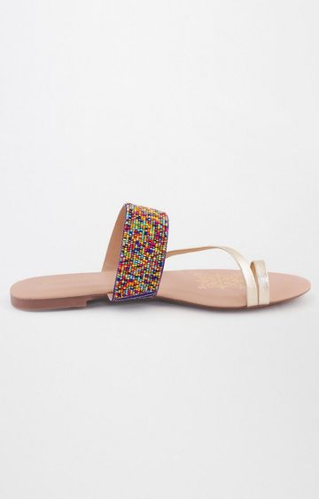 Global Desi | Multicoloured Ethnic Sandals