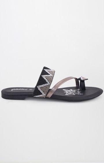 Global Desi | Black Ethnic Sandals