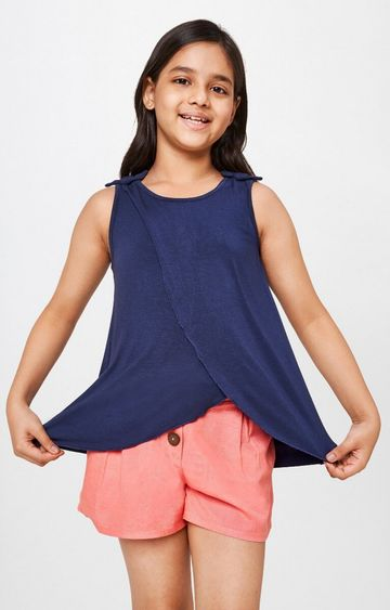 Global Desi | Navy Solid Top