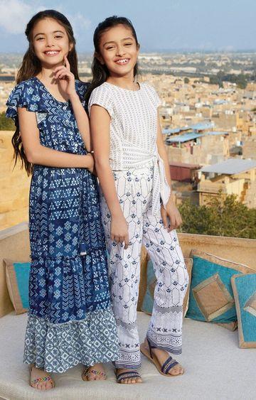 Global Desi | White Top and Pant Set
