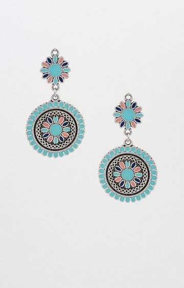 Global Desi | Blue Dangle and Drop Earrings