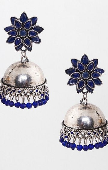 Global Desi | Blue Jhumkis