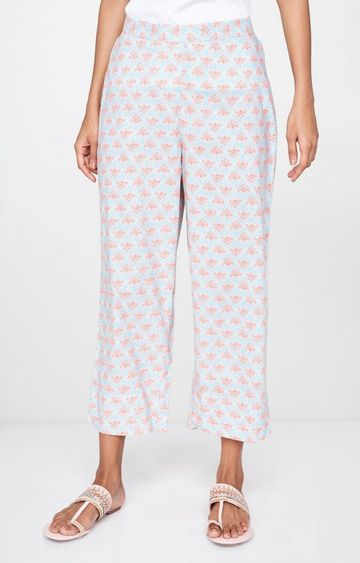 Global Desi | Pink Printed Palazzos