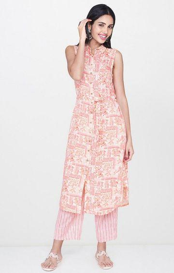Global Desi   Pink Printed Kurta and Pants