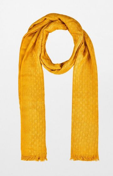 Global Desi | Mustard Solid Scarf