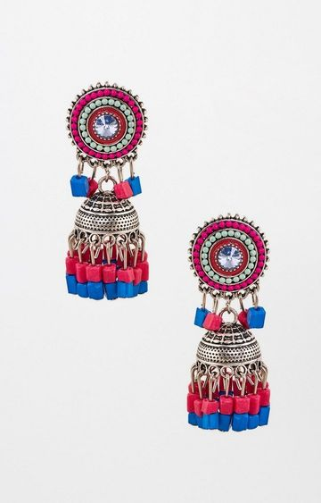 Global Desi | Multicoloured Jhumkis
