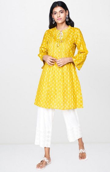 Global Desi | Mustard Embroidered Tunic