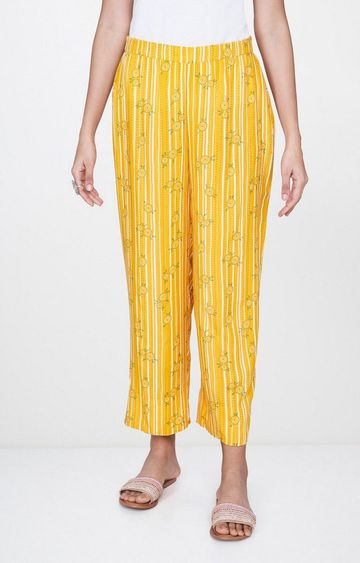 Global Desi | Mustard Striped Palazzos
