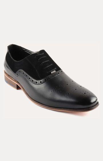 San Frissco | Black Brogue Shoes