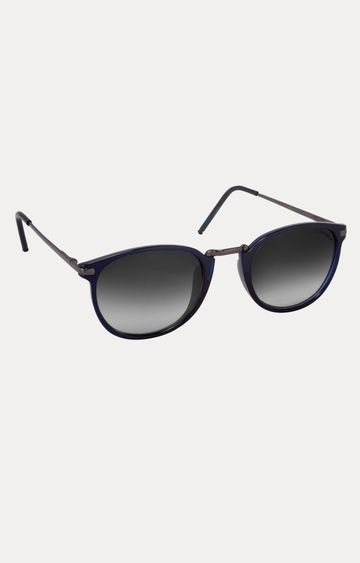Laurels | Blue Round Sunglasses