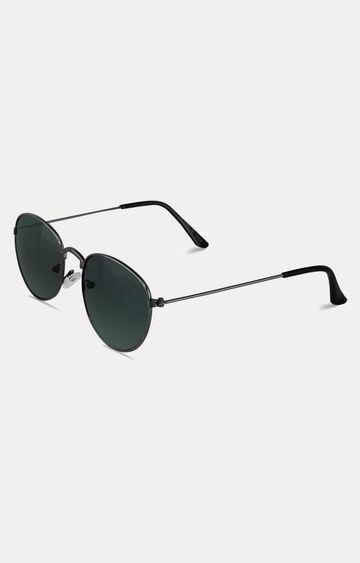 Laurels | Dark Grey Oval Sunglasses