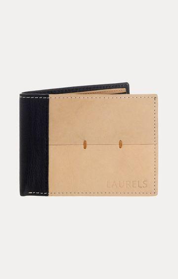 Laurels | Beige and Black Wallet