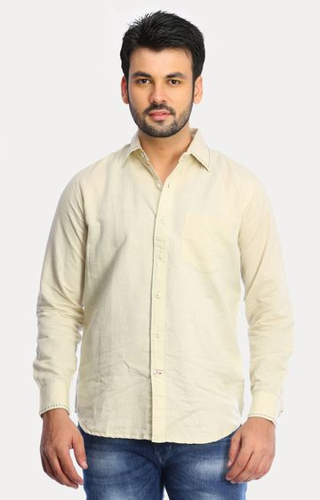 RED CHIEF | Beige Solid Casual Shirt