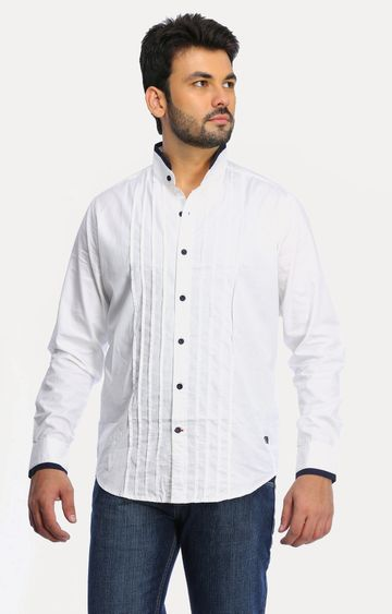 RED CHIEF | White Solid Casual Shirt