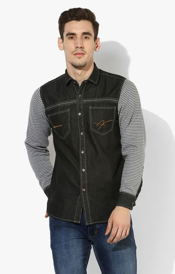 RED CHIEF | Charcoal Solid Casual Shirt