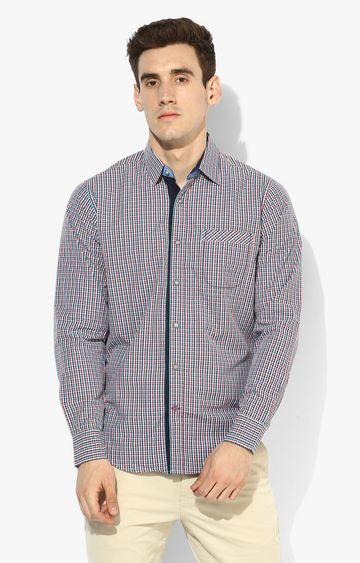 RED CHIEF | Blue & Red Checked Casual Shirt