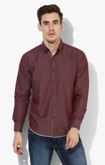 RED CHIEF   Red Checked Casual Shirt