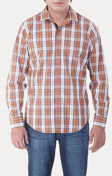 RED CHIEF | Brown Checked Casual Shirt