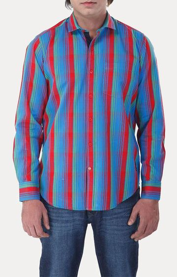 RED CHIEF | Red Striped Casual Shirt