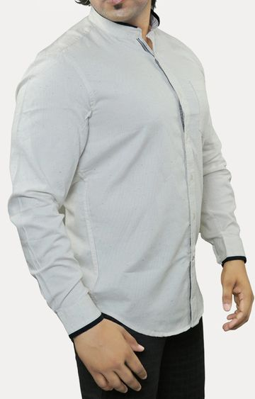 RED CHIEF | Off White Solid Casual Shirt