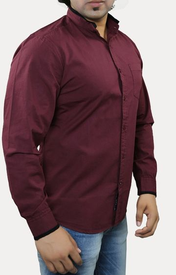 RED CHIEF | Wine Solid Casual Shirt