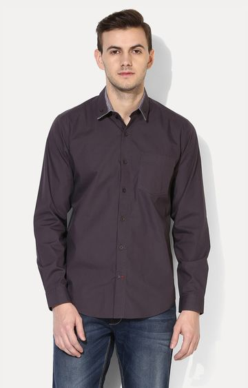 RED CHIEF | Coffee Solid Casual Shirt