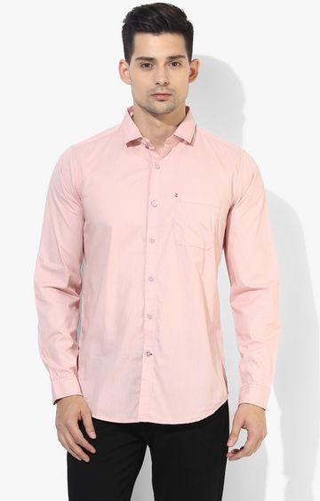 RED CHIEF | Peach Solid Casual Shirt